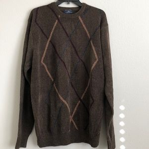 NWT DOCKERS SWEATER XL BROWN